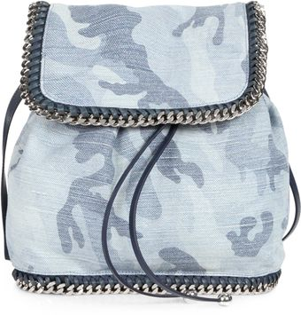 Stella McCartney Shaggy Deer Pale Blue Camo Backpack - Lyst