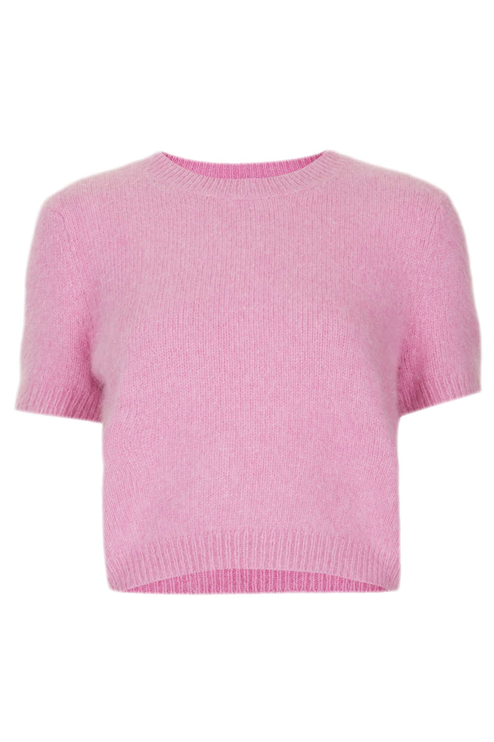 Knitting Pattern Fluffy Jumper : Topshop Knitted Fluffy Angora Jumper in Pink Lyst