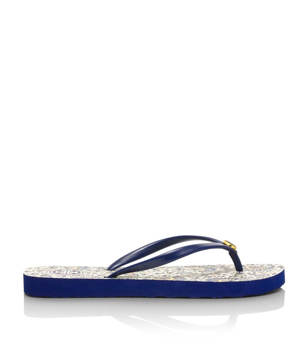 2bd23187fcf49 Lyst - Tory Burch Thin Flip-Flop in Blue
