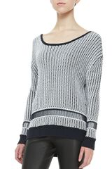 Alice + Olivia Dane Twotone Knit Sweater Alice Olivia - Lyst