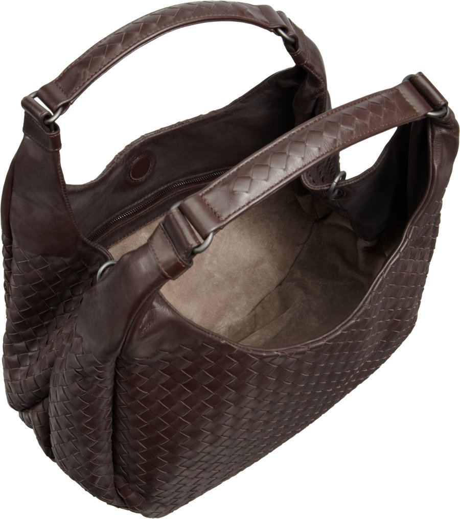 72bb445996 Bottega Veneta Medium Intrecciato Campana Bag in Brown - Lyst