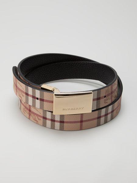 Burberry Calf Leather Belt In Black For Men Lyst