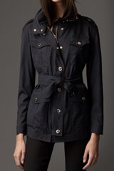 Burberry Lightweight Wool Silk Field Jacket - Lyst