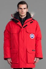 Canada Goose Expedition Parka in Red - Lyst