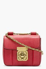 Chloé Red Grained Leather Mini Elsie Bag - Lyst
