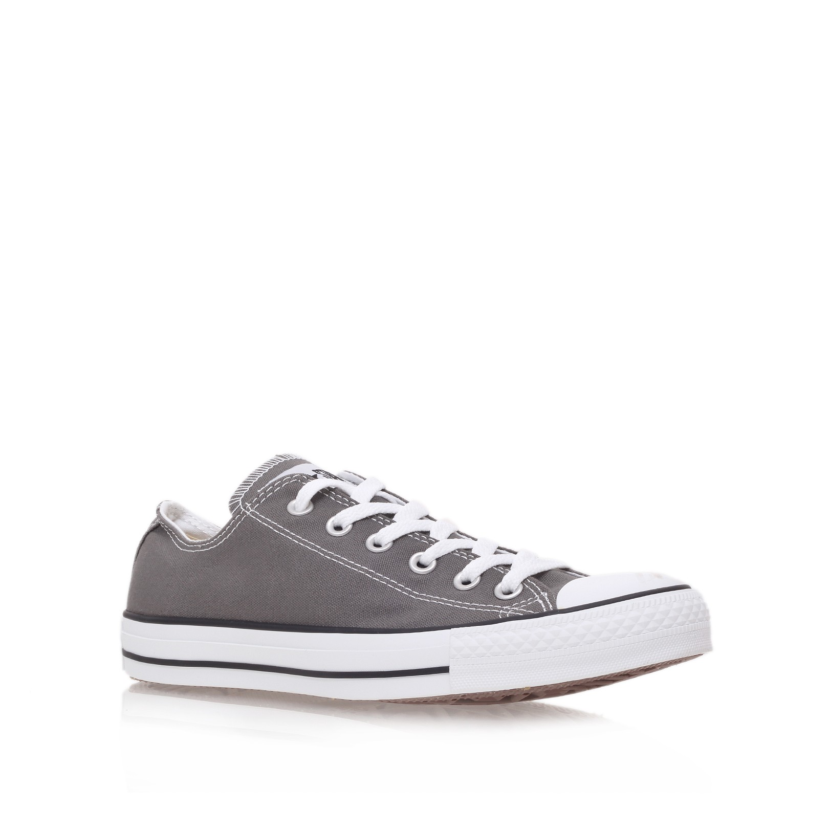converse all star low in gray for men grey lyst. Black Bedroom Furniture Sets. Home Design Ideas
