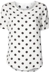 Equipment Riley Polka Dot Blouse - Lyst