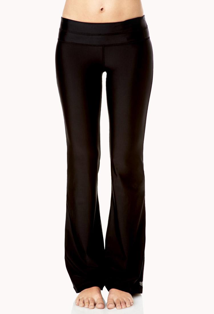 Lyst Forever 21 Hidden Key Pocket Yoga Pants In Black