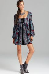 Free People Dress Stretch Velvet Oh So Easy Babydoll - Lyst