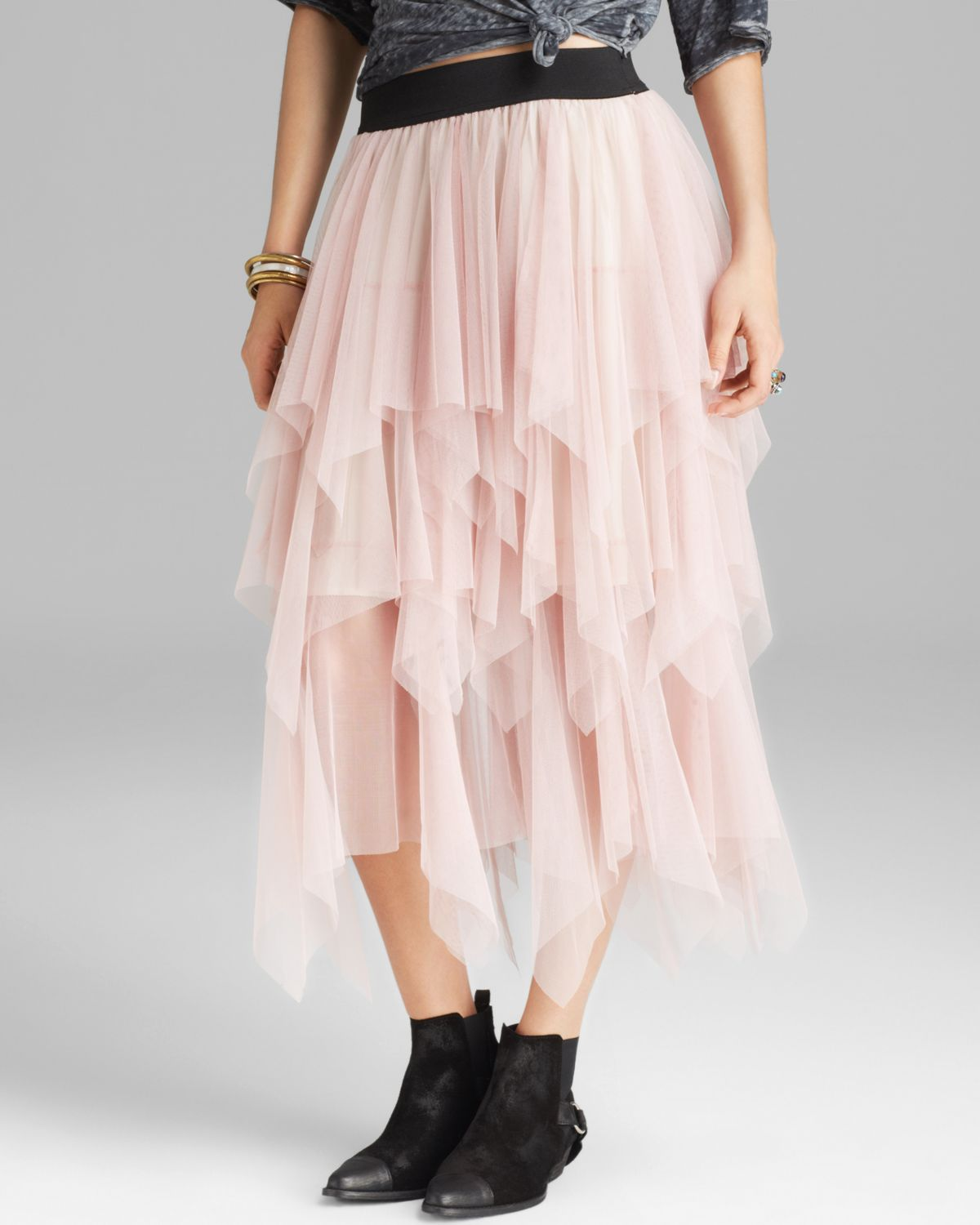 829124b0a66a9 Lyst - Free People Skirt Mesh Lace Tutu in Pink