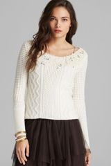 Free People Pullover Aurora Yarn Winter Sparkle - Lyst