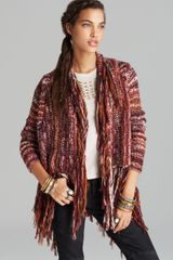 Free People Cardigan Fringe Printed - Lyst