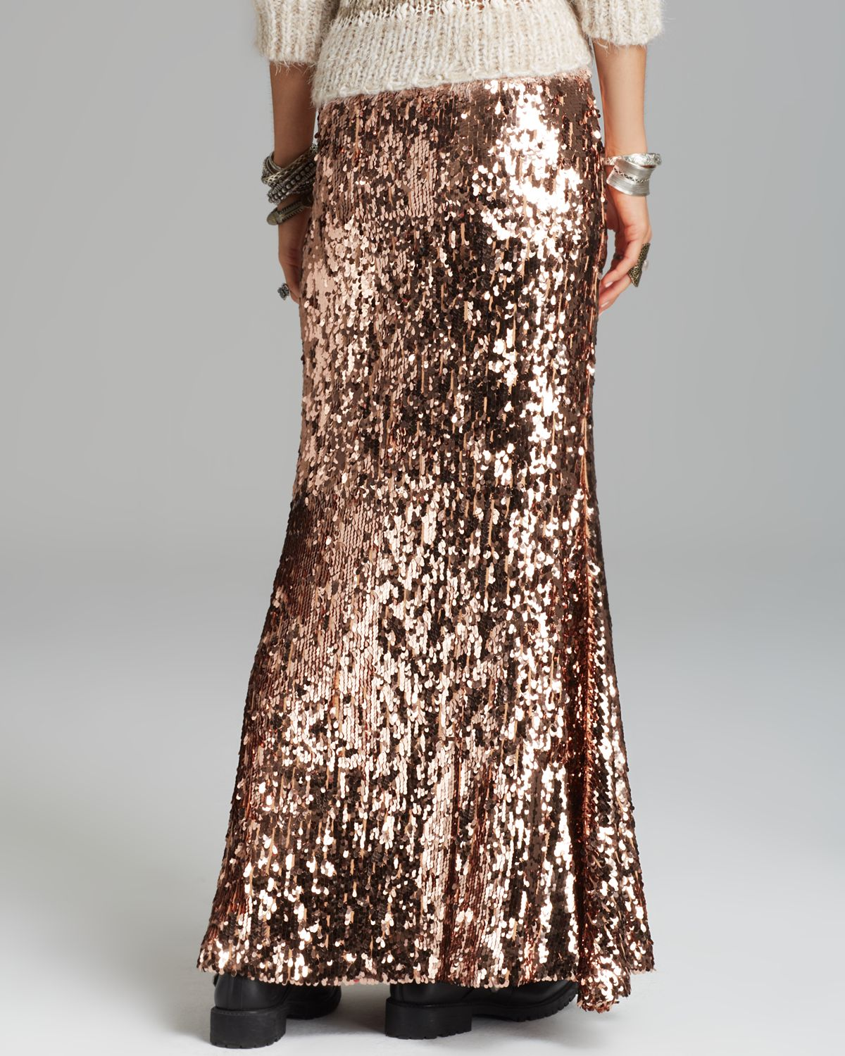 Gallery - Free People Maxi Skirt - Sequins For Miles In Metallic Lyst