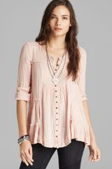 Free People Tunic Yummy Dobby Whistle While You Work - Lyst