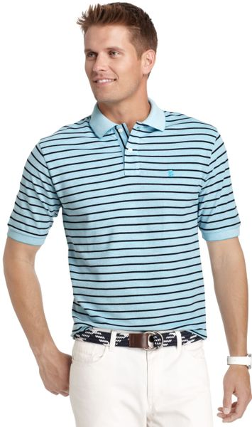 Izod big and tall shirt short sleeve oxford stripe polo in for Big and tall oxford shirts