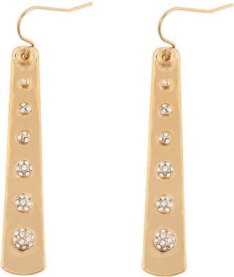 Kara Ross Crystal 18kt Goldplated Slab Drop Earrings - Lyst