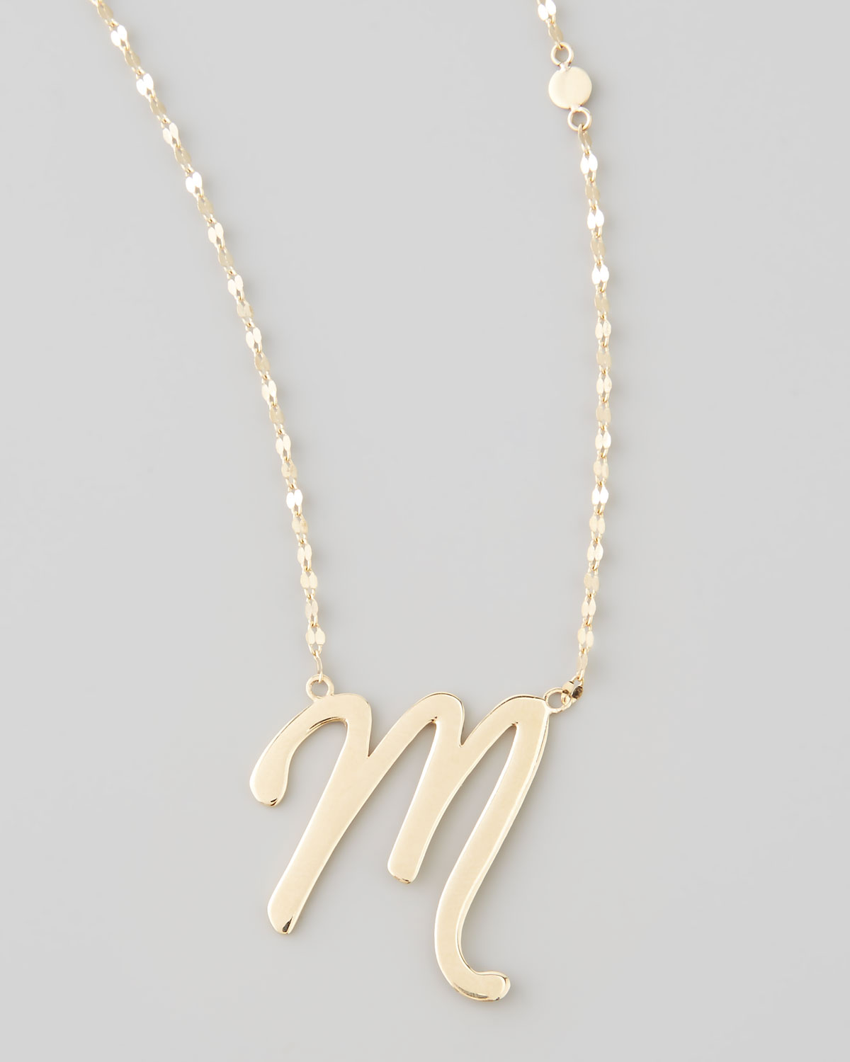 Lyst lana jewelry 14k gold letter necklace m in metallic gallery mozeypictures Images