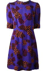 Marc By Marc Jacobs Tulip Print Silk Dress - Lyst
