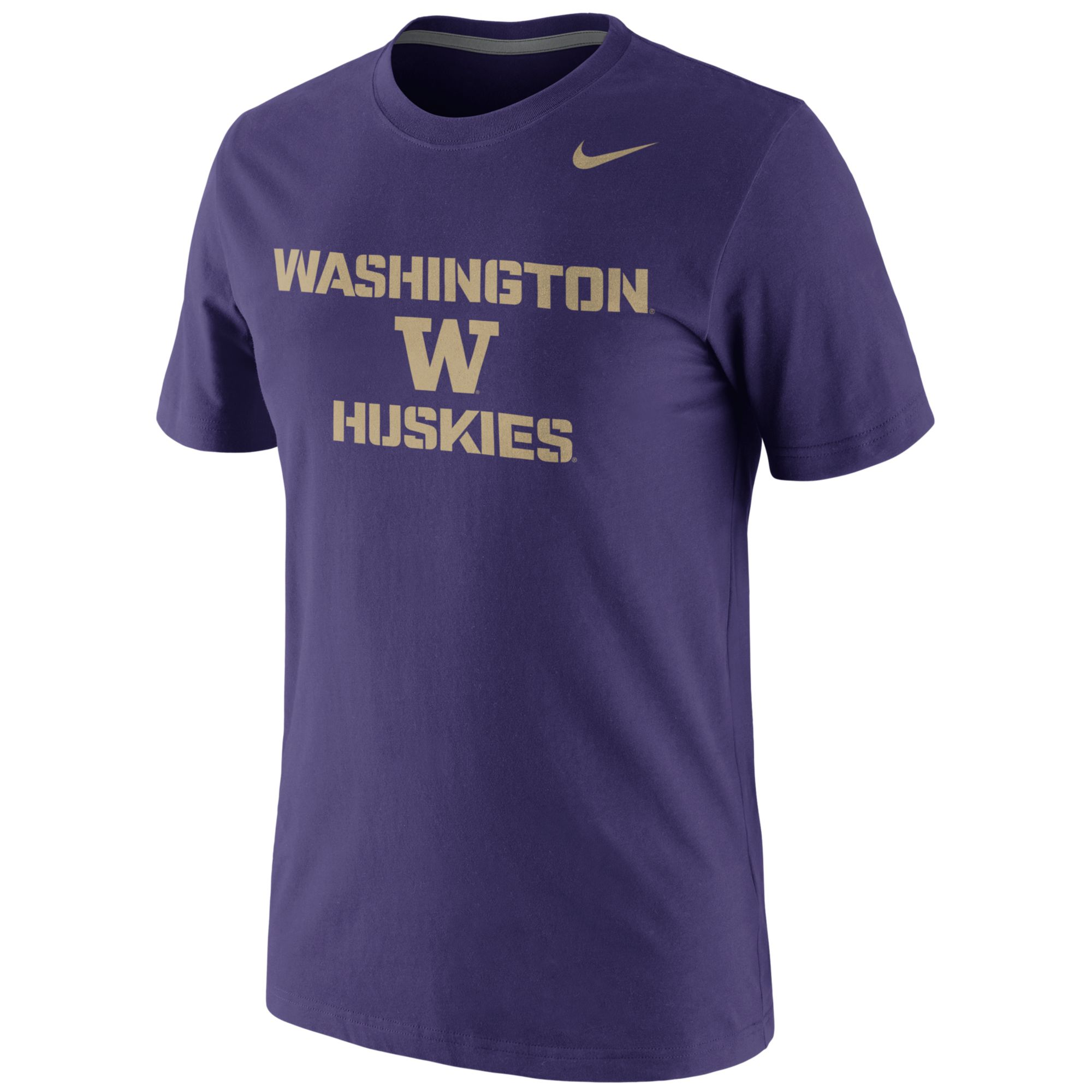 Nike Short Sleeve Washington Huskies T Shirt In Purple For