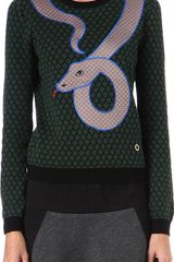 Opening Ceremony Snake Knitted Jumper - Lyst