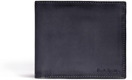 Paul Smith Burnished Edge Leather Wallet Paul Smith Burnished Leather