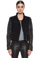 Rag & Bone Moto Jacket with Leather - Lyst
