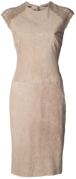 Ralph Lauren Fitted Dress - Lyst