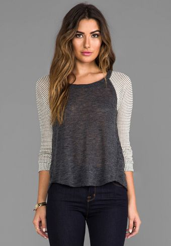 Splendid Azulon Knit Jersey in Charcoal - Lyst
