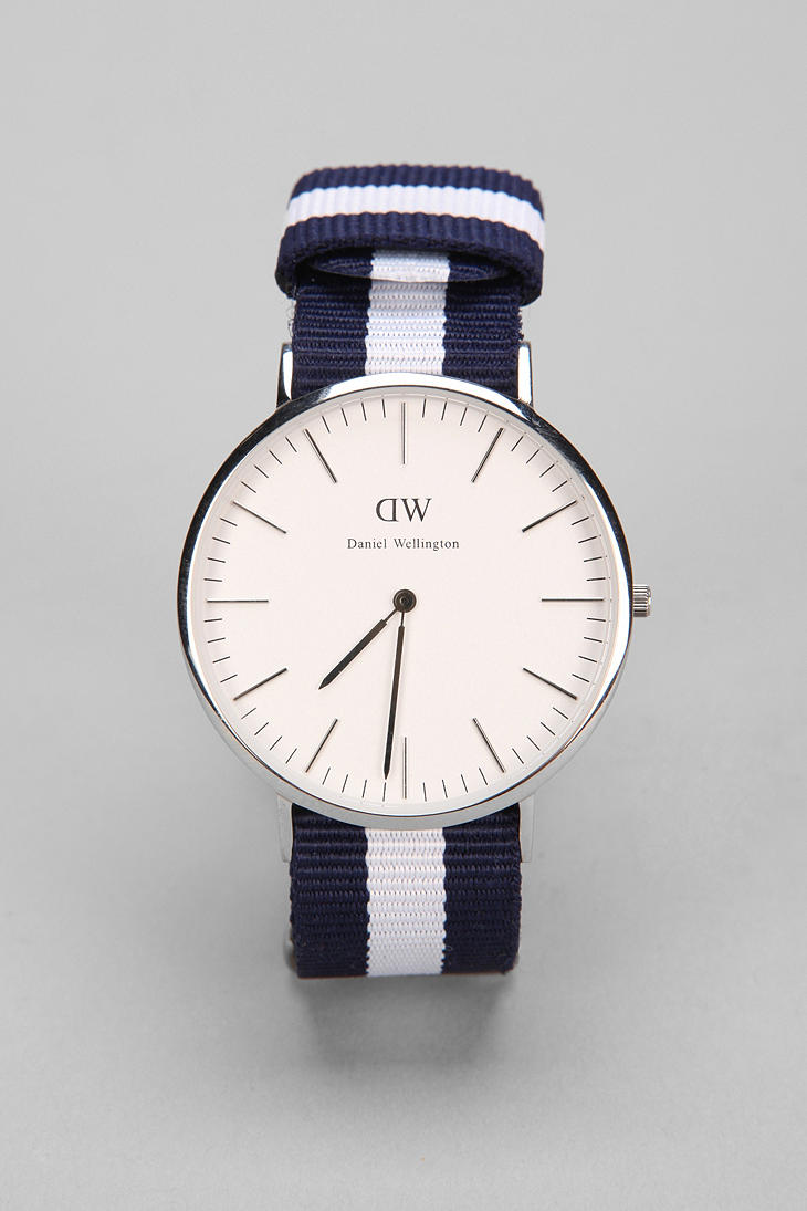 daniel wellington glasgow watch in blue for men lyst. Black Bedroom Furniture Sets. Home Design Ideas