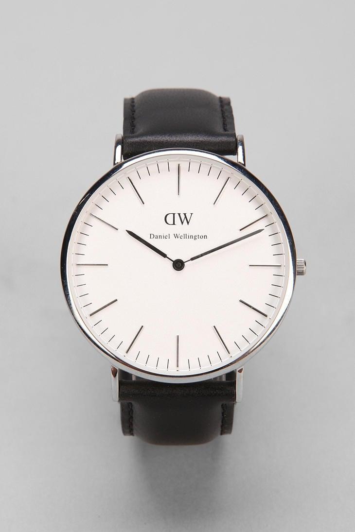 daniel wellington sheffield watch in black for men silver