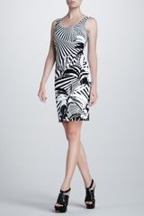 Versace Plantprinted Dress - Lyst