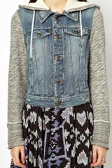 Free People Denim and Knit Jacket - Lyst