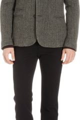 Basco Herringbone Tweed Twobutton Sport Coat - Lyst