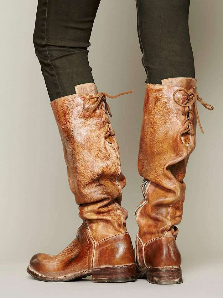 Bed Stu Manchester Leather Tall Boots In Brown Lyst