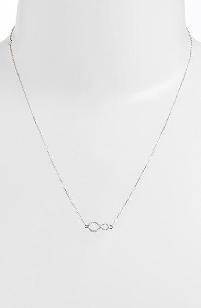 Bony Levy Pav 233 Diamond Sideways Infinity Symbol Pendant