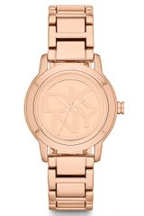 DKNY Ladies Rose Gold Tone Stainless Steel Watch - Lyst