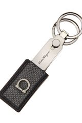 Ferragamo New Form Valet Key Chain Gray - Lyst