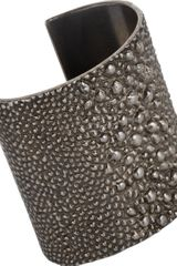 Givenchy Palladium Shagreen Textured Cuff - Lyst