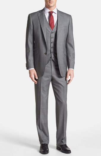 Hart Schaffner Marx Ny Classic Fit Three Piece Suit - Lyst