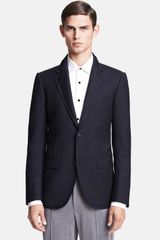 Lanvin Evolution Navy Wool Raw Edge Sportcoat - Lyst