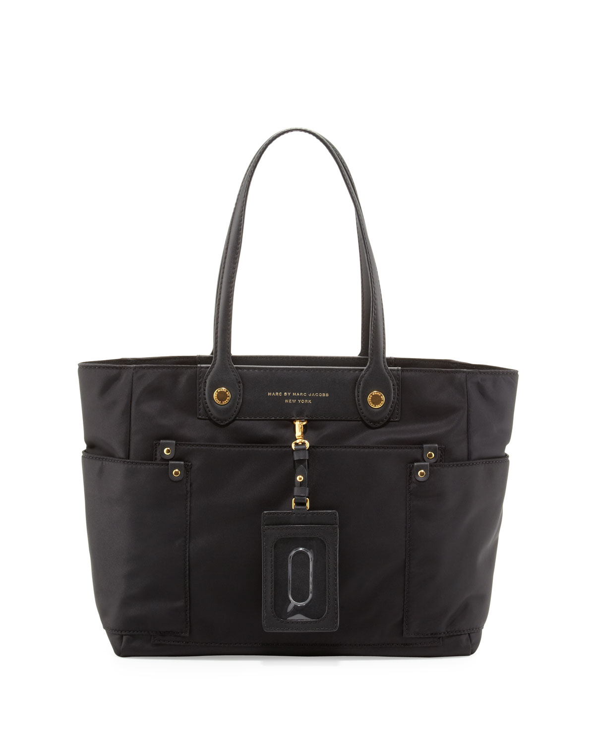 Marc By Marc Jacobs Preppy Nylon Clara Zip Tote Bag Black