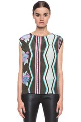 MSGM Silk Sleeveless Top - Lyst