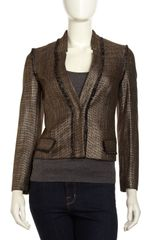 Rachel Zoe Tracy Jacket Blackgold - Lyst