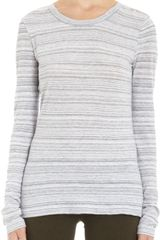 Rag & Bone Melange Striped Long Sleeve Tee - Lyst