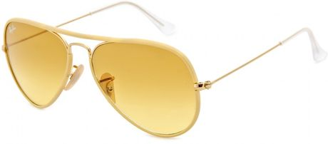 Ray-ban Aviator Large Metal Sunglasses in Gold (gold frame ...