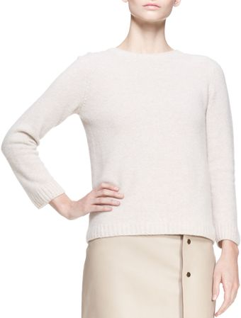 The Row Crewneck Cashmere Pullover Sweater Clay - Lyst