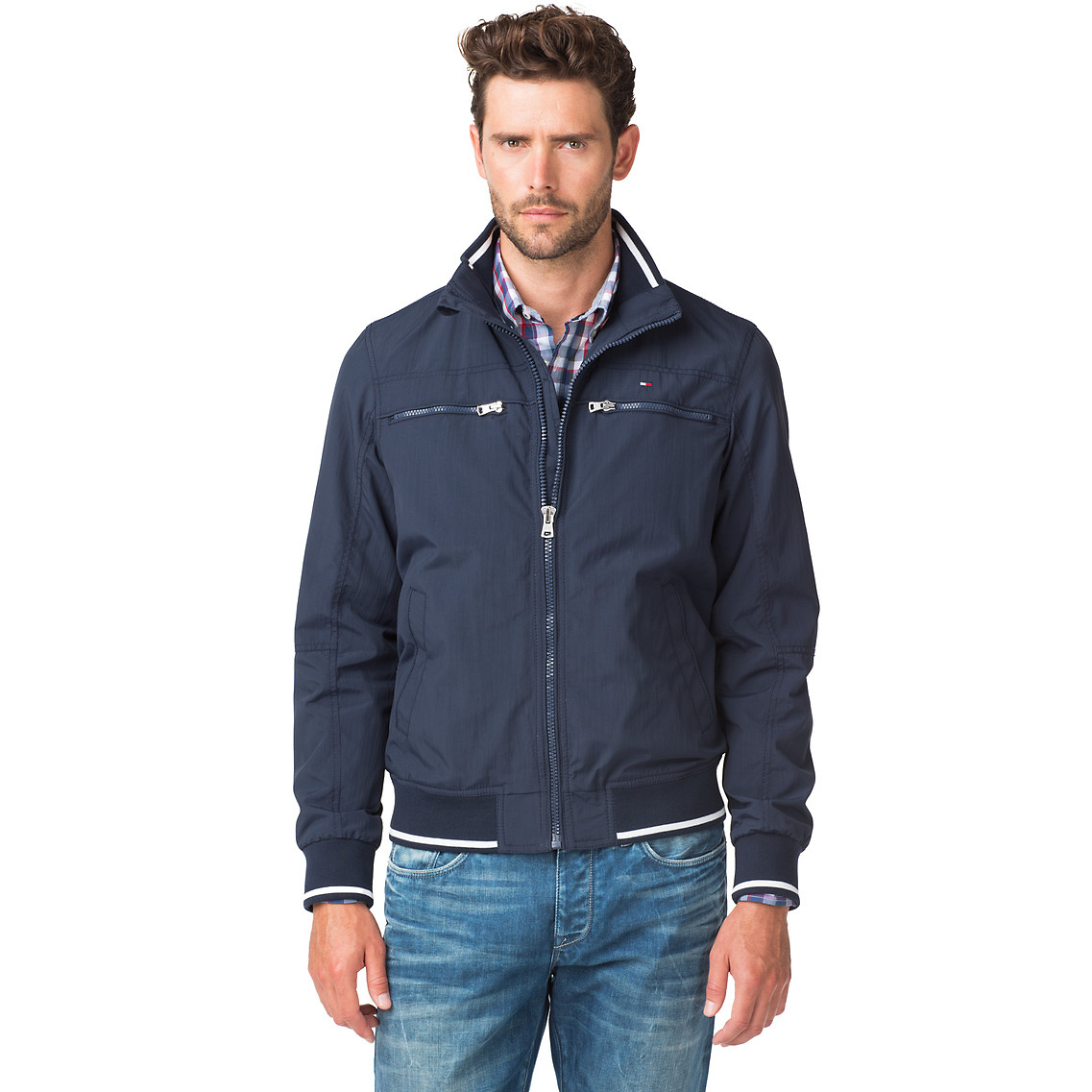 tommy hilfiger matthew bomber jacket in blue for men lyst. Black Bedroom Furniture Sets. Home Design Ideas