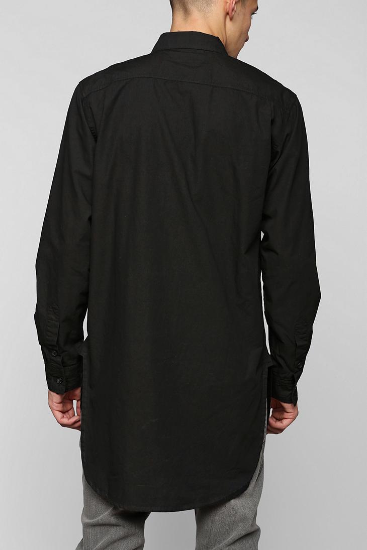 f844bd76757 Lyst - Kill City Long Button-Down Shirt in Black for Men