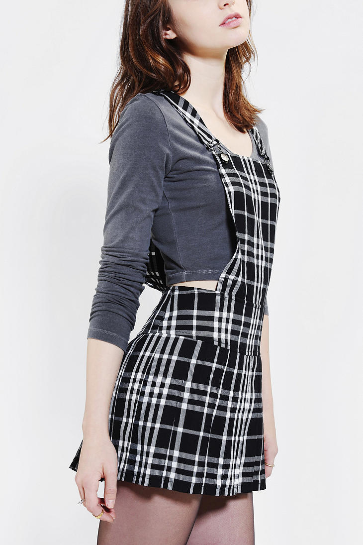 Lyst Urban Outfitters Tripp Nyc Plaid Pleated Overall