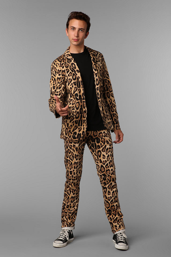 Urban Outfitters Tripp Nyc Leopard Print Topcat Pant In Metallic For Men | Lyst